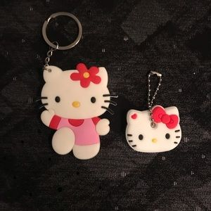 Hello kitty silicon key chain and key cover.NWT